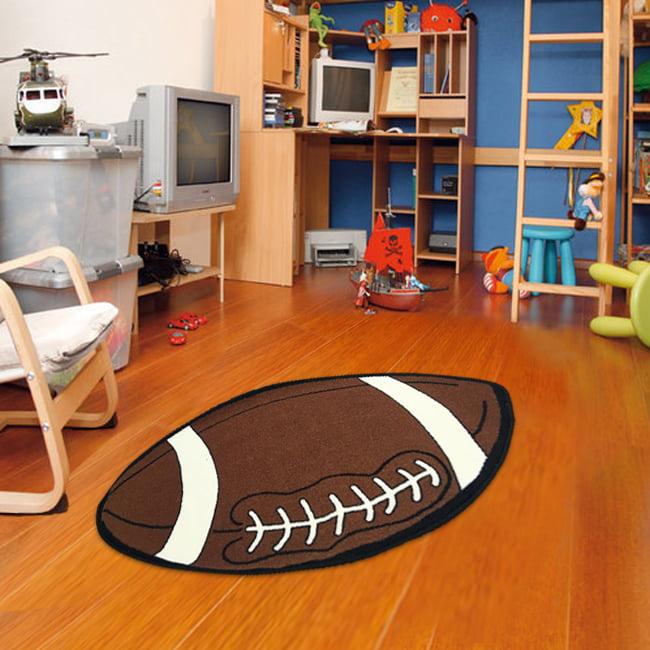 Kids Sports Football Small Shape Area Rug 3 3 X5 Walmart Com