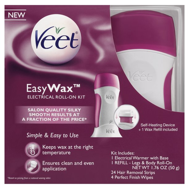 Veet Easy Wax Roll On Hair Remover Wax Kit 1 Count Walmart Com