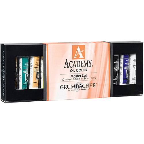 Grumbacher Academy Oil Master Set, 12Pk