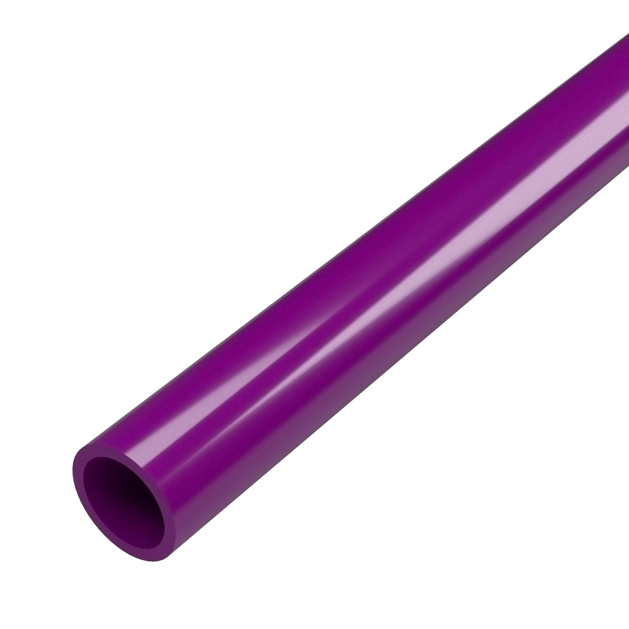 FORMUFIT P034FGP-PU-5 Schedule 40 PVC Pipe, Furniture Grade, 5-Feet, 3/4 in. Size, Purple