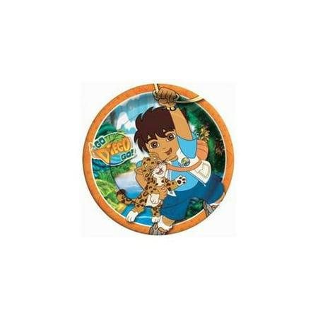 Go Diego Go Dinner Plates by Amscan (Go Diego Go Party Supplies)