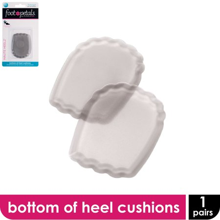 Foot Petals Technogel Haute Heelz - One Pair of Bottom of Heel Cushioned Inserts for High Heels and Other Uncomfortable