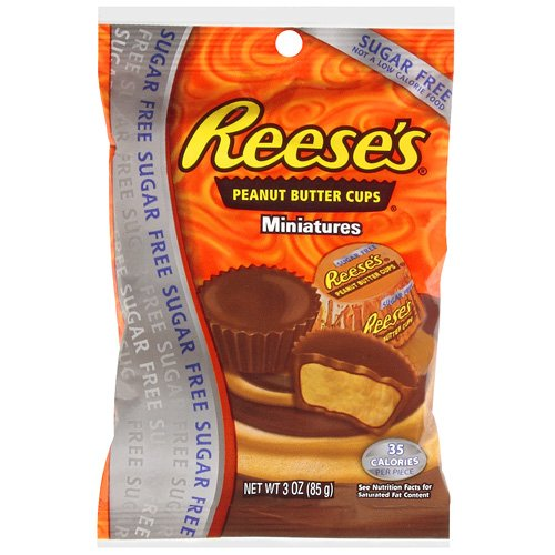 Reese's Sugar Free Peanut Butter Miniatures Chocolate Cups, 3 Oz