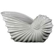 Ceramic Shell Flower Pot - Light Gray