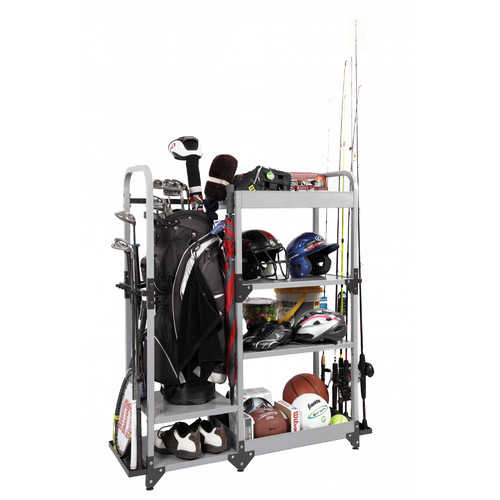Tuff Stor by American Furniture Classics Heavy-Duty Metal Multi-Sport Organization and Storage Rack