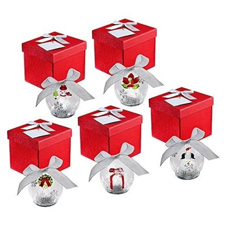 Express Ornament (qvc kringle express set of 5 illuminated glass ornaments christmas icons gift boxes and batteries included )