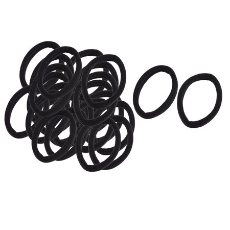 Unique Bargains 12 Pairs Stretchy Fabric Hair Ties Bands Ponytail Braid  Holder Elastics Black - Walmart.com 9c1f42809d7