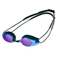 Arena Tracks Mirror Swimming Goggles in Multiple Colors, Adjustable Size