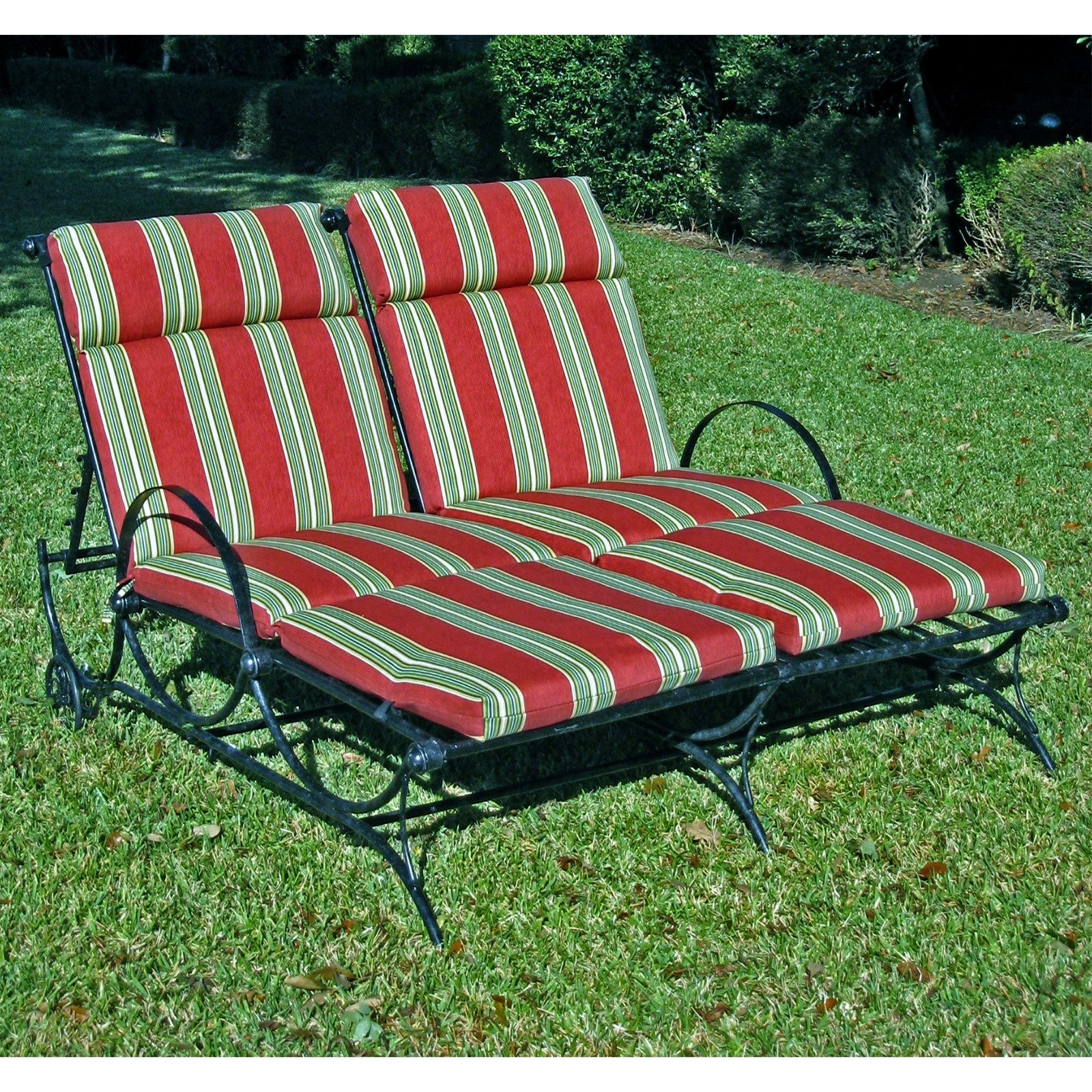 Outdoor double chaise lounge clearance replacement cushion for Chaise cushions clearance