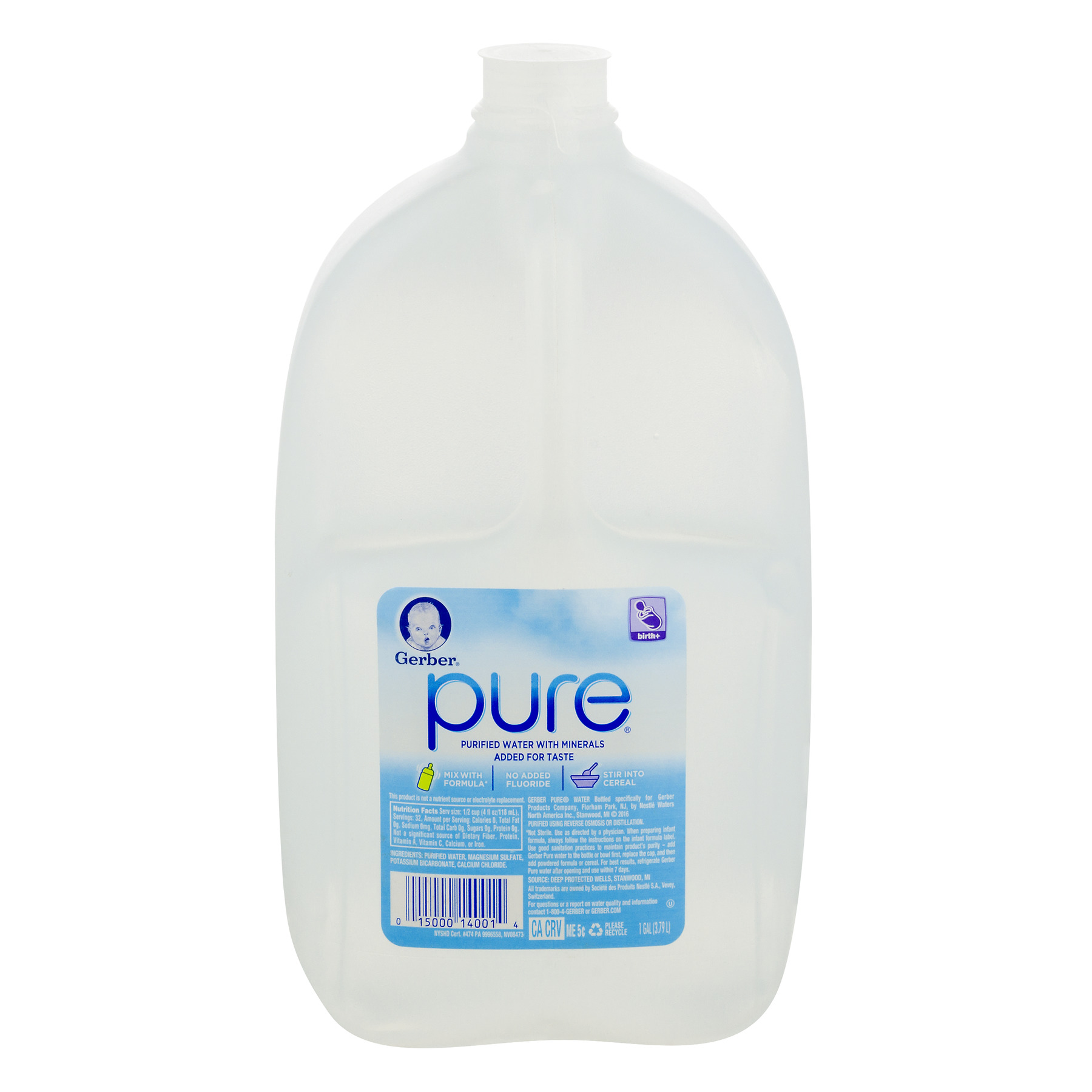 Gerber Pure Purified Water, 128 Fl Oz, 1 Count