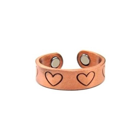 Valentine Heart Copper Magnetic Ring For Women