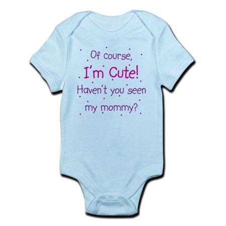 CafePress - Cute Like Mommy Infant Bodysuit - Baby Light Bodysuit