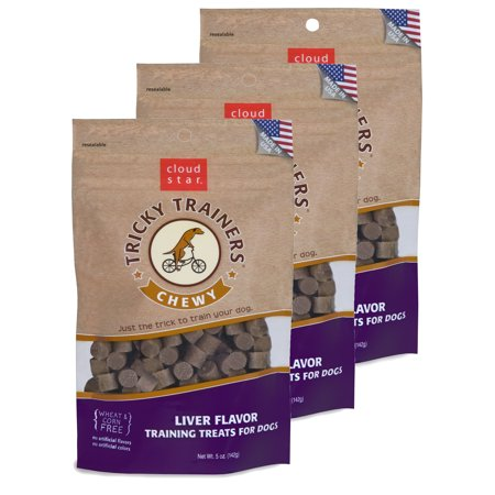 Tricky Trainers Liver Treats - Cloud Star Chewy Tricky Trainers Liver 5 oz Dog Treats 3 Pack