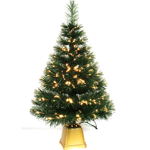 "Holiday Time Pre-Lit 32"" Fiber Optic Artificial Christmas Tree"