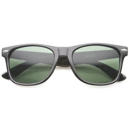 3d37b218daa sunglass.la - sunglassLA - Classic Eyewear Iconic 80 s Retro Large Horn  Rimmed Sunglasses - 54mm - Walmart.com
