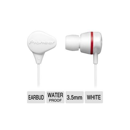 Pioneer SE-CL331-H Waterproof Earbud - 10Hz-20KHz, 16 ohm, Noise Isolating, Wate