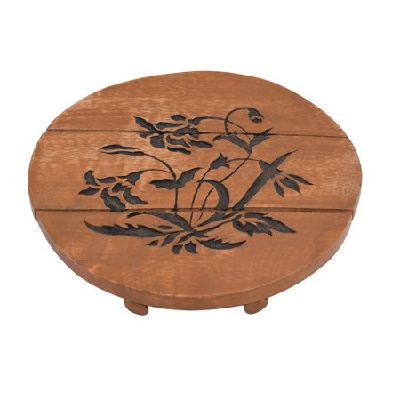 Floral Trivet - StoreEthnic Floral Painted Mango Wood Trivet for Kitchen Hot Dishes Dining Table Accessories Kitchen Tools and Gadgets (Beige)