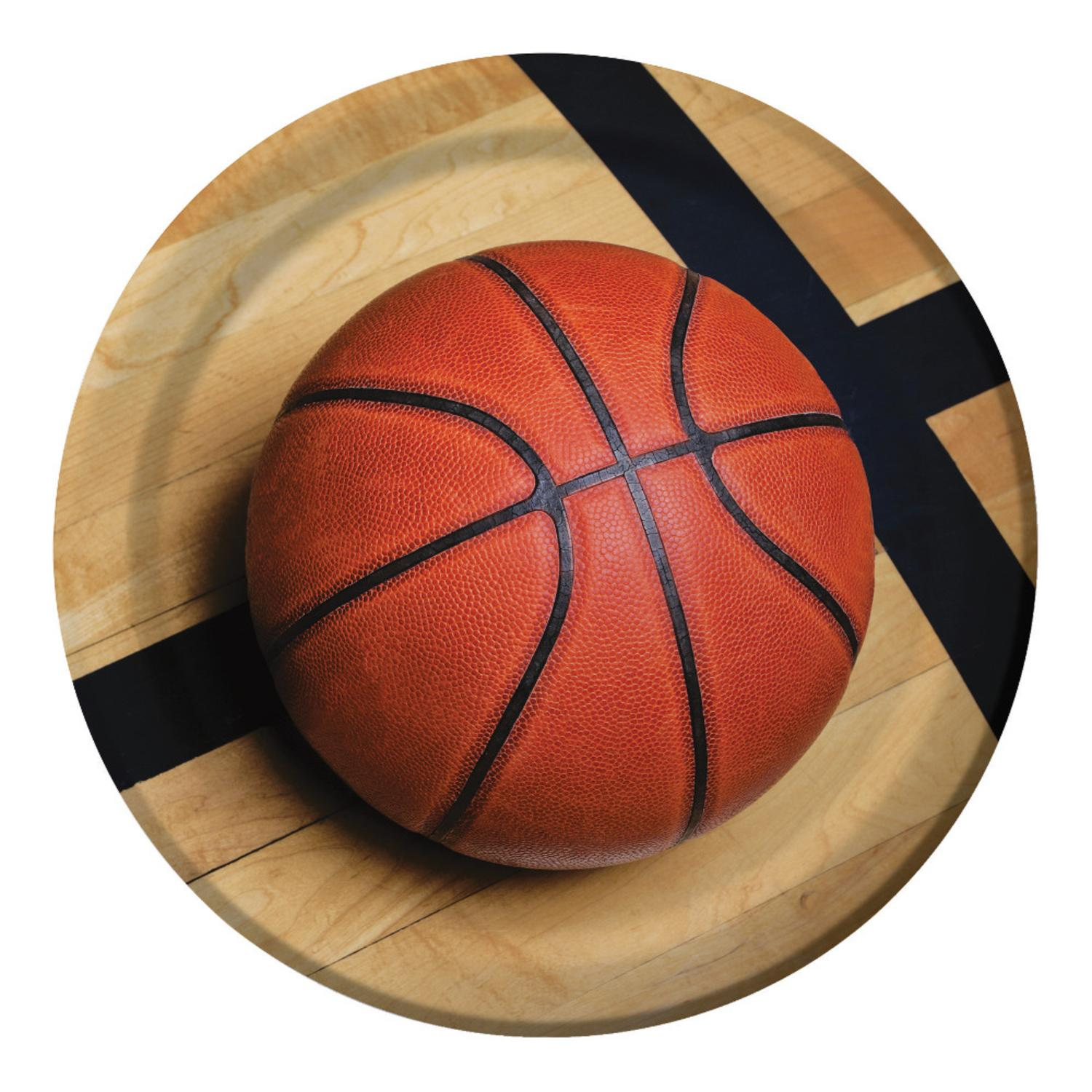 """Club Pack of 96 Sports Fanatic Basketball Disposable Paper Party Dinner Plates 9"""""""