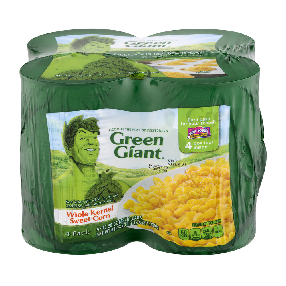 Green Giant Whole Kernel Sweet Corn - 4 PK, 15.25 OZ