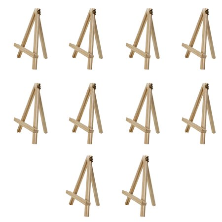 Mini Easel Stand (Ktaxon 10 x Mini Wooden Easel Small Wood Display Stand for Artist)