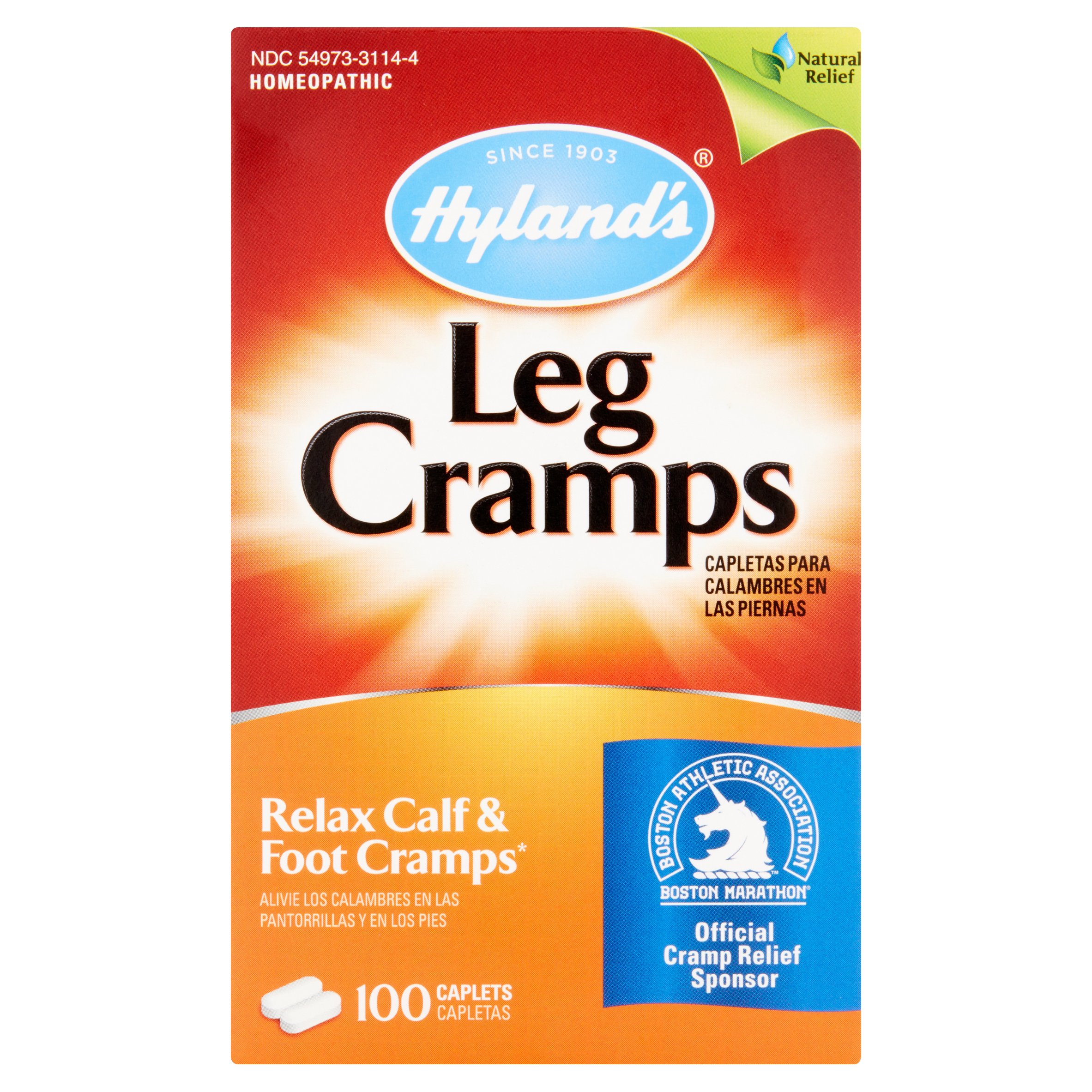 Hyland's Homeopathic Leg Cramps Caplets, 100 count