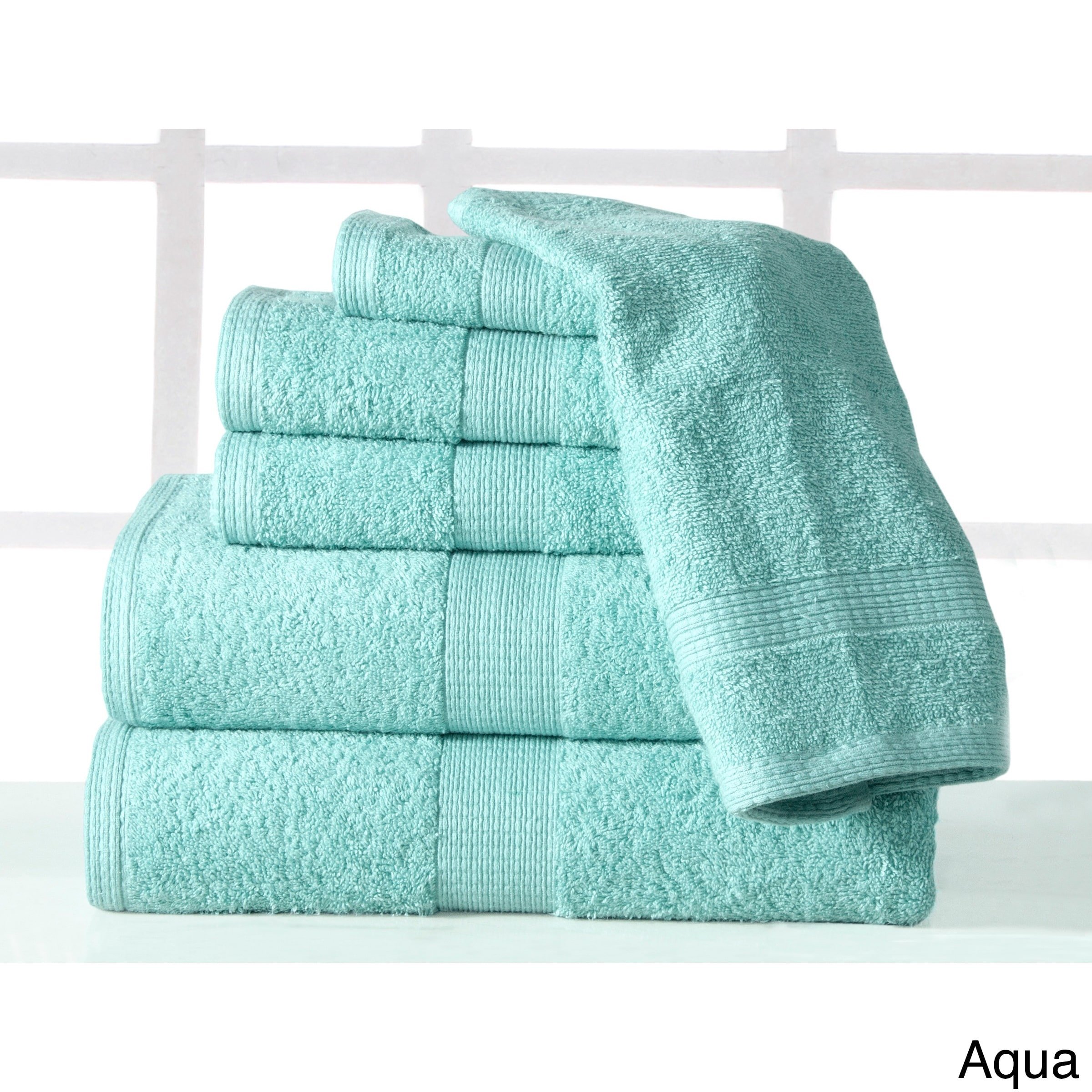 Casa Platino Supersoft Plush Luxury Low Twist 6 Piece Cotton Bath Towel Set by Overstock