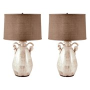 Dimond Products Twisted Handle Terra Cotta Table Lamp - Set of 2