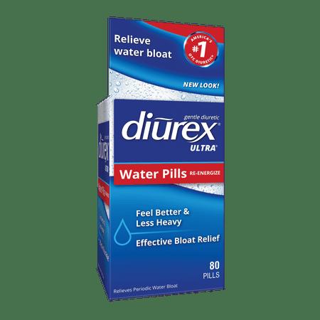 Diurex Ultra Re-Energizing Water Pills - Relieve Water Bloat - Feel Better & Less Heavy - 80 Ct
