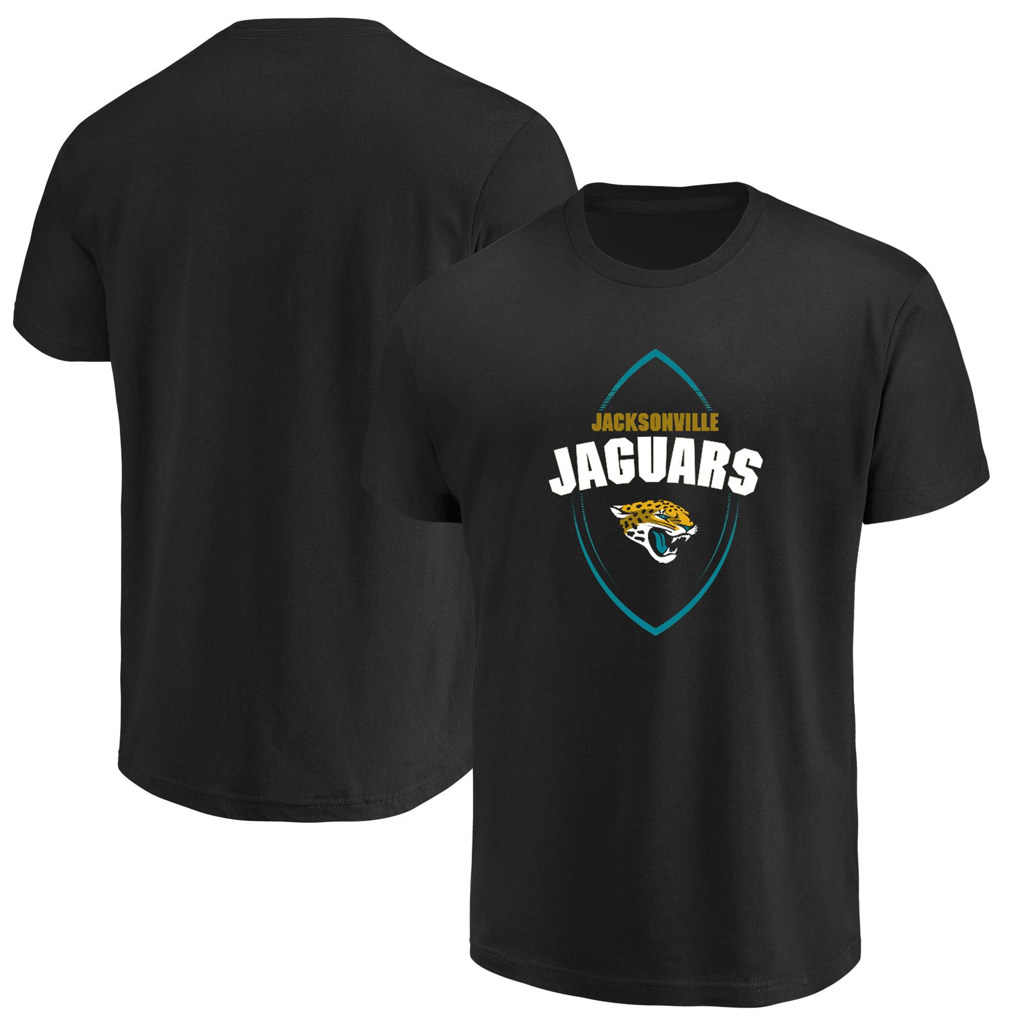 Jacksonville Jaguars Majestic Maximized Crew Neck T-Shirt - Black
