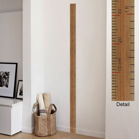 (Removable Growth Chart Height Measure Living Room Wall Decal Decor Sticker)