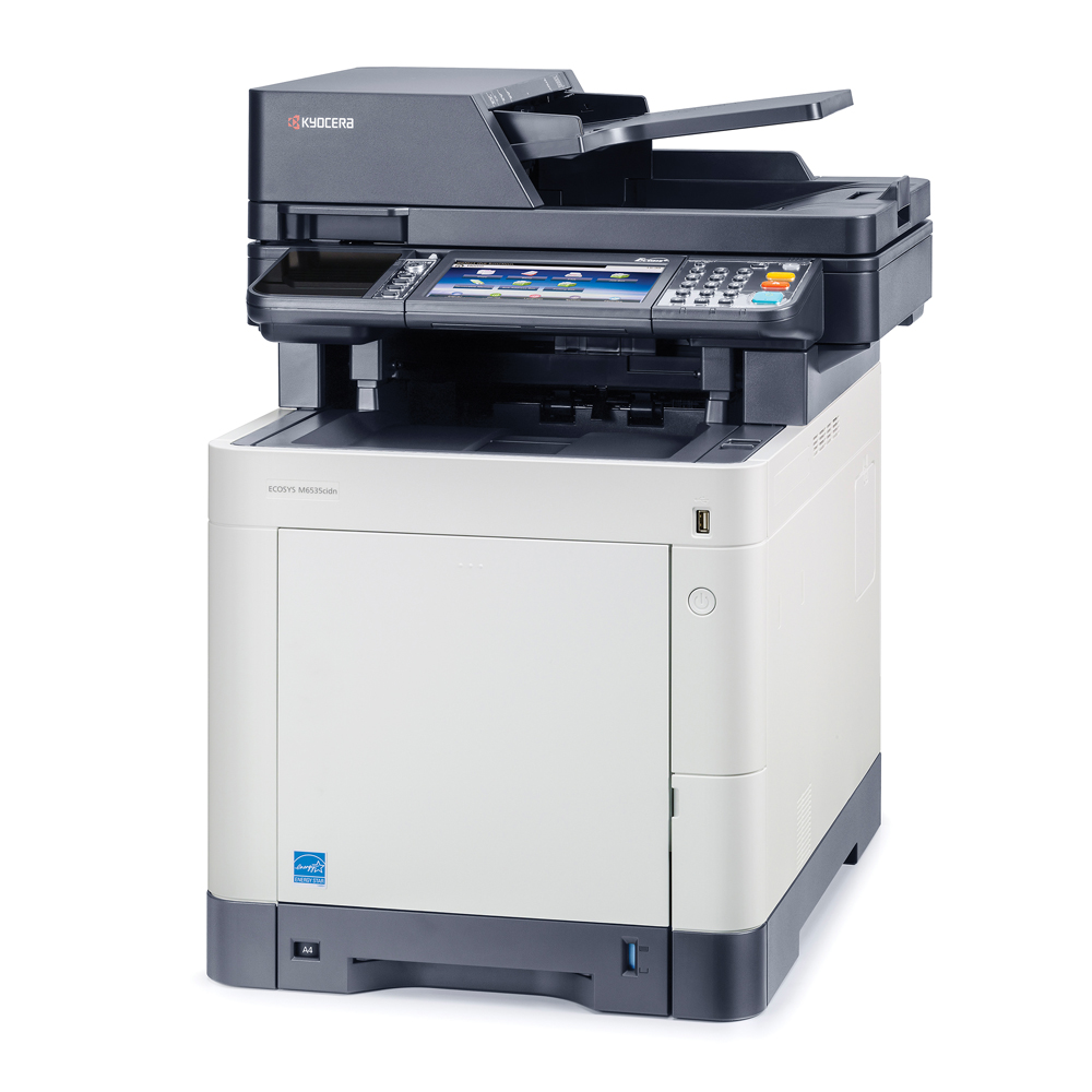 Refurbished Kyocera ECOSYS M50cidn A50 Color Laser Multifunction Printer -  50ppm, Copy, Print, Scan, Fax, Duplex, USB, Network, 50 Tray