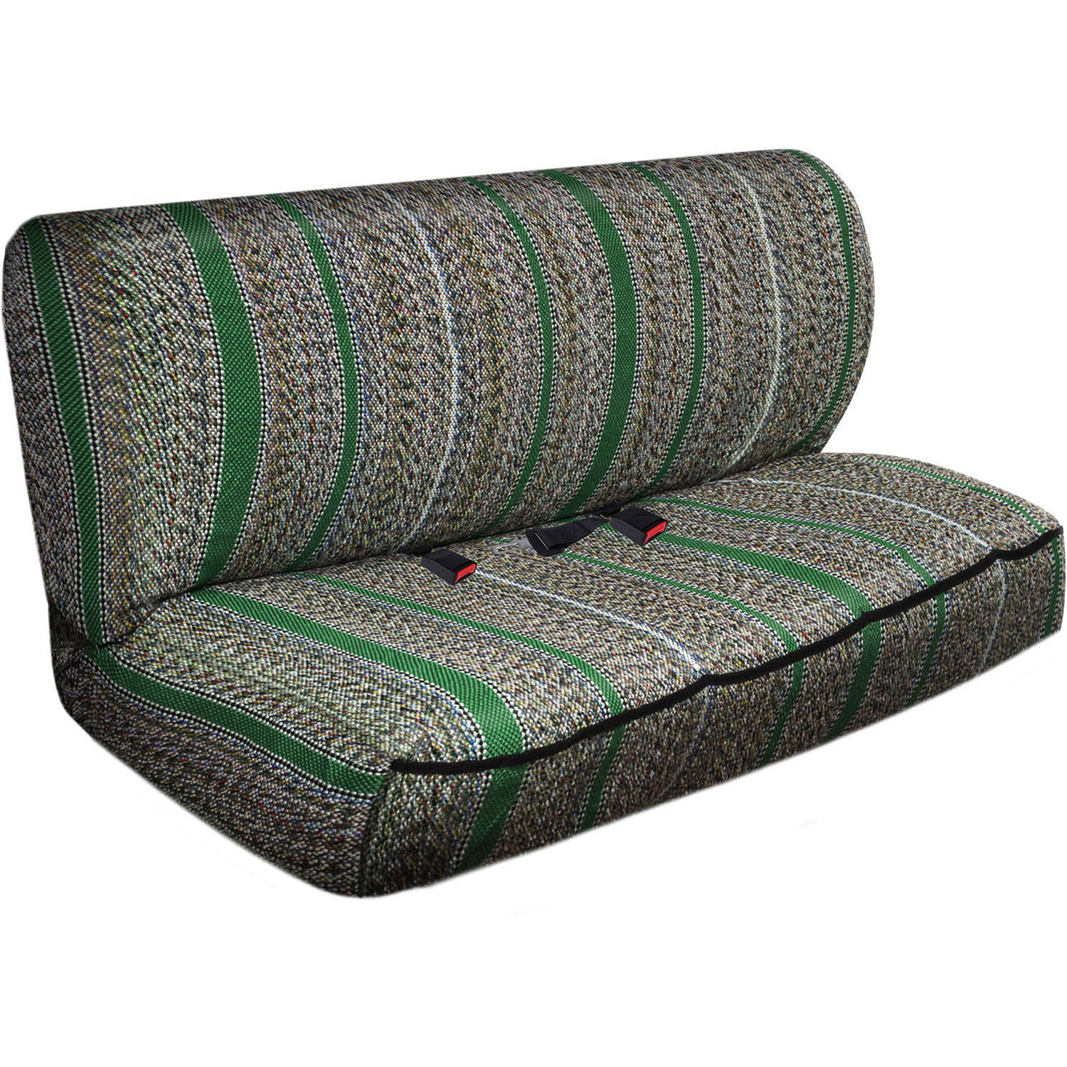 OxGord 2-Piece Full Size Heavy Duty Saddle Blanket Bench Seat Covers, Green