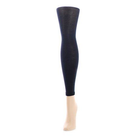 MeMoi Girls Pima Cotton Footless Tights 10--12 / Black MK 310