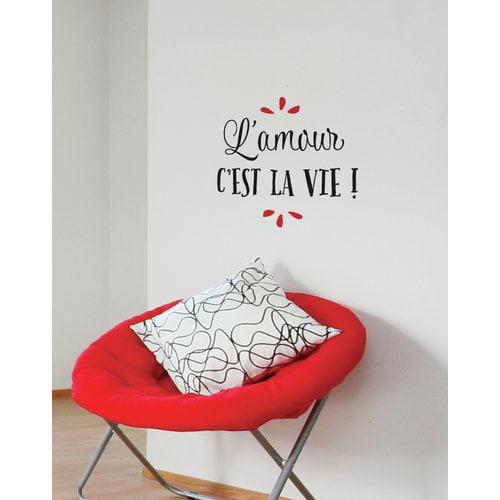 ADZif Mia & Co L Amour C Est La Vie Wall Decal