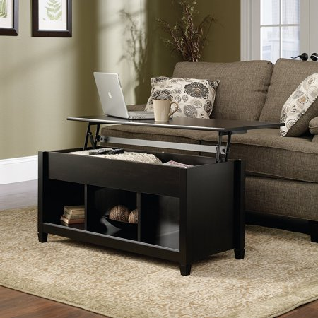Rectangle Table Trucks (Zimtown Lift Up Top Coffee Table with Hidden Compartment End Rectangle Table Storage Space Living Room Furniture (Black))