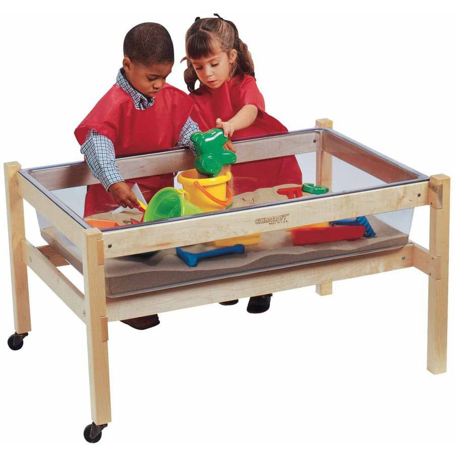 "Childcraft Sand and Water Table Replacement Tub, Clear, 40.25"" x 26.62"" x 9.12"""