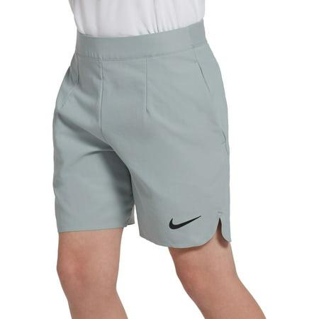 Nike Boys' Court Ace Tennis Shorts, Light Pumice/Black, M