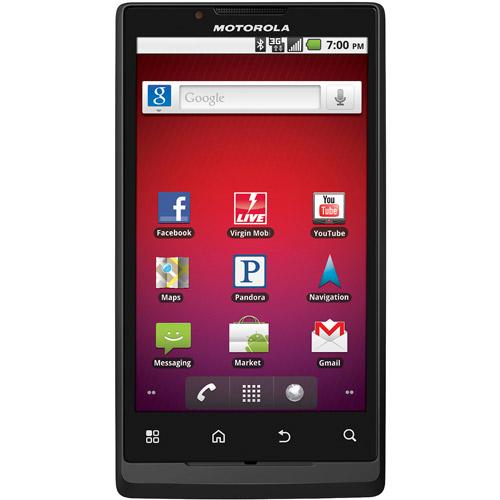 Virgin Mobile Android Motorola Truimph Prepaid Cell Phone