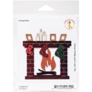 Cheery Lynn Designs Die-Fireplace, 3.25 Inch X 3.375 Inch