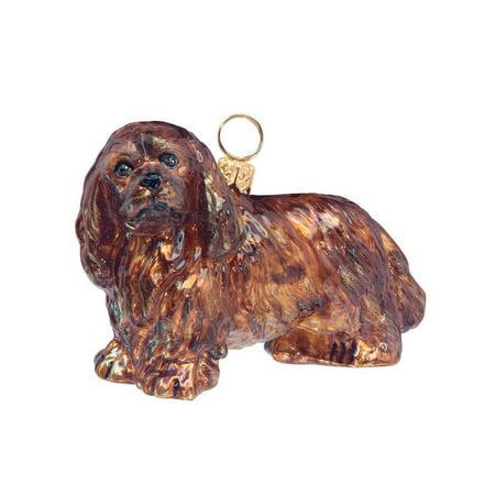 Ruby Cavalier King Charles Spaniel Dog Polish N Gl Christmas Ornament