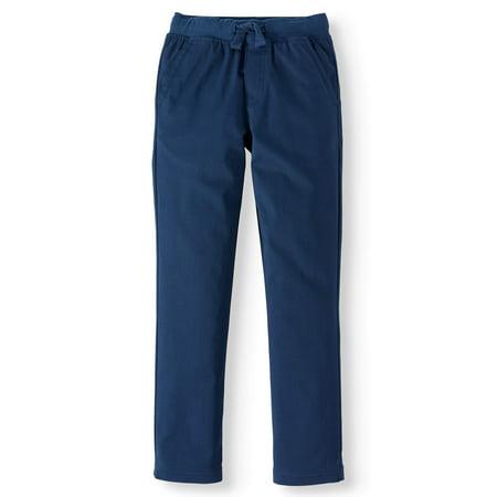 Wonder Nation Boys School Uniform Stretch Twill Pull On Pants (Little Boys & Big Boys) ()