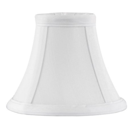 Traditional Mini Fabric Bell Lamp Shade with Piping, White