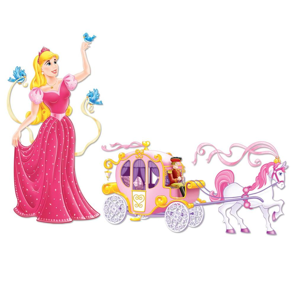 (12 Packs) Birthday Party Princess & Carriage Props