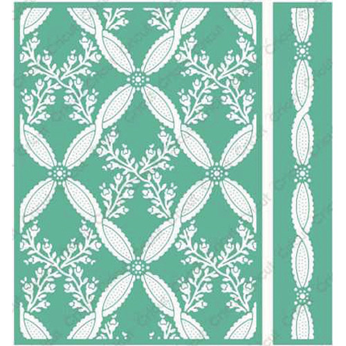 "Cuttlebug 5"" x 7"" Embossing Folder/Border Set, Climbing Rose By Anna Griffin"