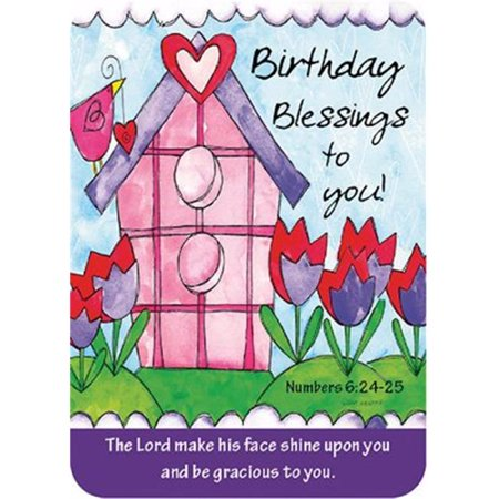 CB Gift 152294 2.5 x 3.5 in. Birthday Blessings Verse Card - Halloween Birthday Card Verses