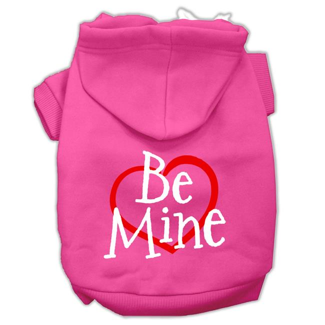 Be Mine Screen Print Pet Hoodies Bright Pink Size Med (12) - image 1 of 1