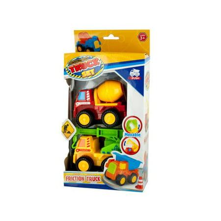 Kole Imports OL923-8 Mini Construction Friction Truck Set, 2 Piece - Pack of 8 - image 1 de 1
