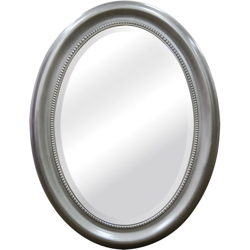 "22"" x 29"" Oval Mirror, Silver"