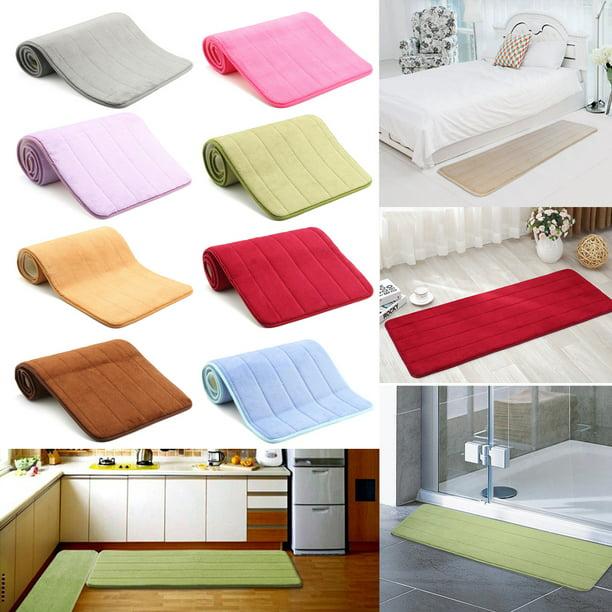 Soft Memory Foam Bath Mat Non Slip Doormat Bathroom Bedroom Kitchen Floor Rug Indoor Outdoor Mat Walmart Com Walmart Com