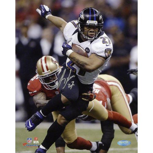 NFL - Ray Rice Autographed 8x10 Photograph | Details: Baltimore Ravens, Super Bowl XLVII